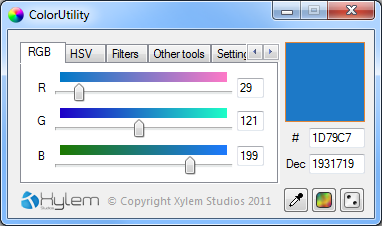 ColorUtility โปรแกรมหาโค้สี